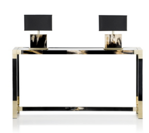 Lacquer and Horn Console