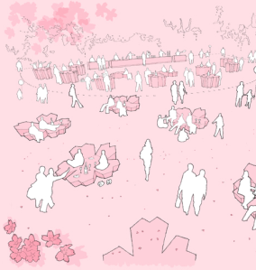 Perspective of Cherry Blossom Party