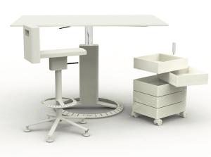 Stool and Desk Set by Magis Design