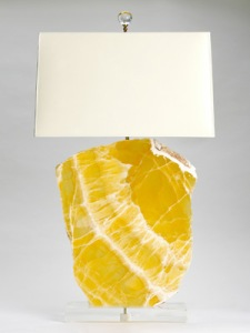 Love this yellow juicy quartz lamp.