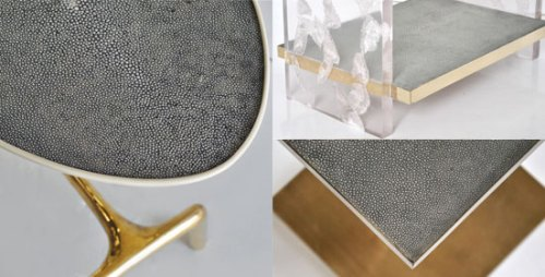 Shagreen. And gold.