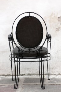 Metal Frame Arm Chair