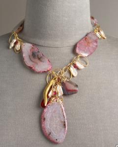 Devon Leigh Pink Agate Necklace | $790