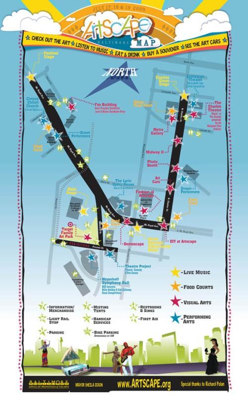 Artscape Festival Map