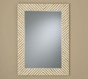 Chevron Bone Mirror, $249 | Pottery Barn