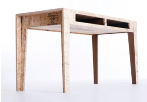 Desk made of scraps   by Chris Rucker