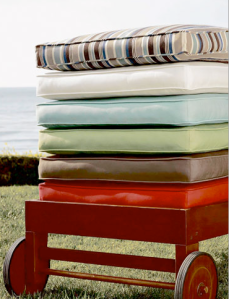 Foam Chaise Cushions $249 | Pottery Barn
