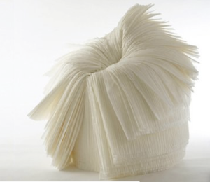 Pleated Paper Makes a Chair | by Nendo
