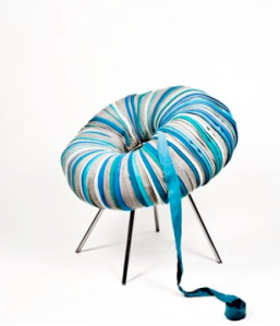 Textile Scraps create a Chair | by Camilla Halvorsen