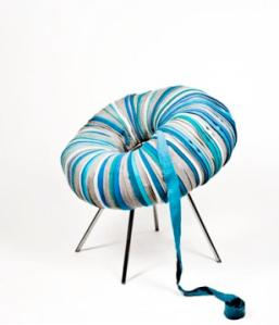 Textile Scraps create a Chair | by Camilla Halvorsen
