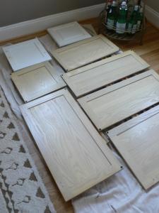 Cabinet Doors getting Primed.