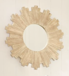 Sunburst Wood Mirror, $229