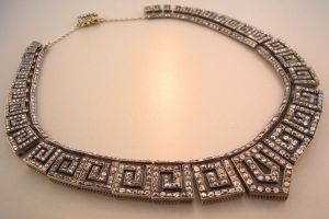 19th Century French Diamond Necklace | 1st Dibs
