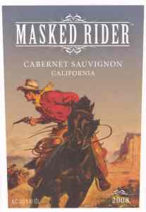 Masked Rider from the Panther Rock Wine Company
