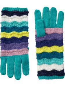 Girls Zig Zag Gloves | Old Navy (adorable!)