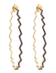 Black Diamond Zig Zag Hoops | Max and Chloe (they rock!!)