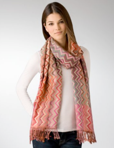 Amicale Zig Zag Scarf | Bloomingdales (love the fruity colors!)