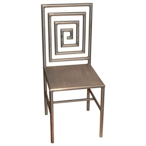 Aluminum Greek Key Chair | Benjamin Wilson Antiques