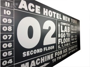 Latex painted signage by Mint & Serf.