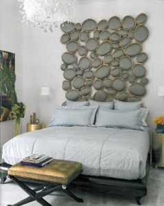 Love this Headboard! Christopher Guy bed and lamps by Hinson Lighting