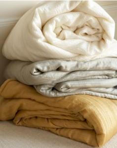 Ethereal Silk Comforter, $498 | Garnet Hill