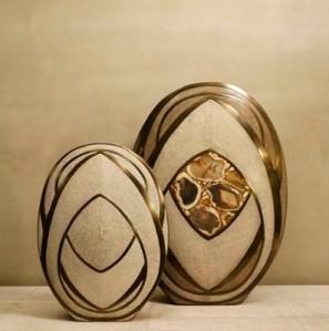 Bronze Shagreen & Agate Vase, $1,140