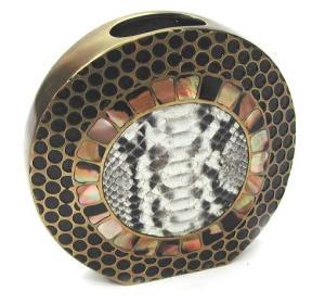 Bronze Shell & Python Vase, $295