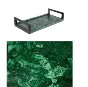 Malachite Vanity Tray, $275