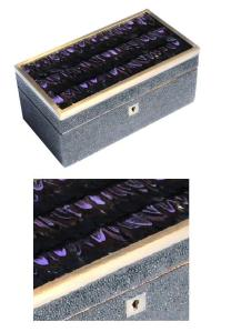 hagreen Feather Mosaic Box, $295