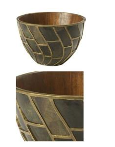 Bronze Mosaic Pen Shell Bowl, $495