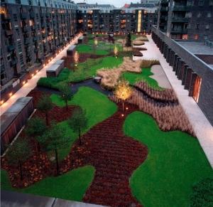 Charlotte Garden open park and courtyard.