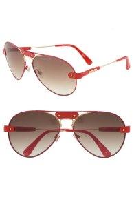 Chloé Aviator Sunglasses with Leather Trim