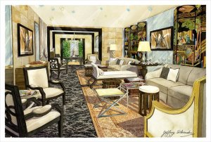 Roger Thomas's vision for the Oscars Architectural Digest Greenroom
