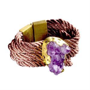 Amethyst Tiras Bracelet