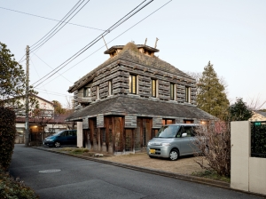 The Charred Cedar House is treated with an ancient Japanese technique that seals the wood against rain and rot.