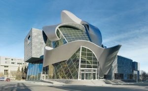 Exterior Architecture of the Art Gallery of Alberta.