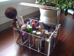 Acrylic Vanity Tote, $20 | Container Store