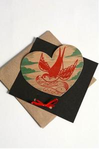 Wooden Sweetheart Card