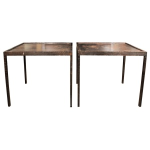 Forged Bronze Side Tables