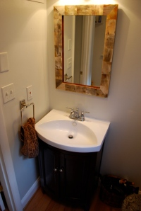 Love love love the results! My horn mirror looks fantastic with! Hand towel fixture has to be moved!