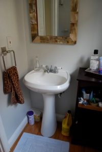 Bathroom remodel sink