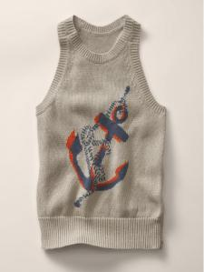 Anchor Intarsia Sweater Dress