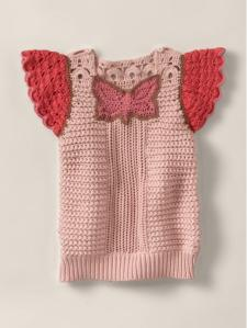 Mercy crochet butterfly sweater