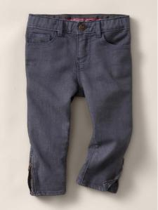 Skinny Colored Zipper Jeans, $58