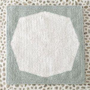 Organic Hexagon-Patterned Jacquard Bath
