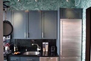 How about a faux malachite paint treatment?