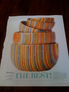 Same ones shown in next months issue of House Beautiful!
