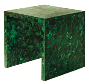 Malachite Side Table by Marjorie Sourkas