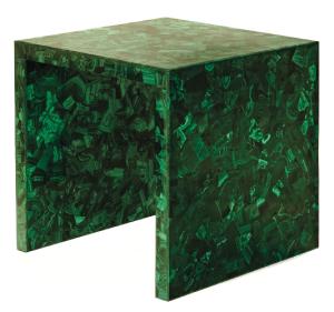 Malachite Side Table by Marjorie Sourkas