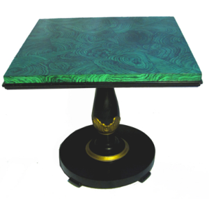 Vintage Faux Malachite Table from Drexel Heritage